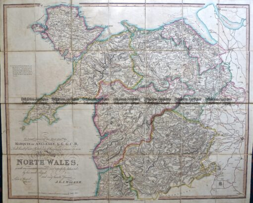 4-201  Wales – northern Counties by Walker  c.1824
