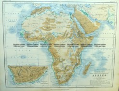 40-15  Africa - Topographical  c.1890