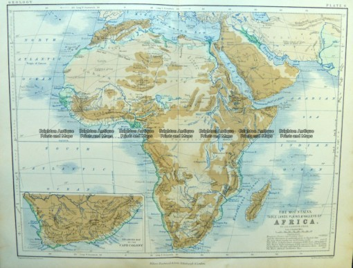 40-15  Africa – Topographical  c.1890