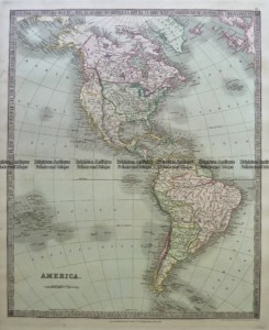 5-055  North & South America by Teasdale  c.1844