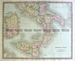 5-064  Italy - South by Teasdale  c.1844