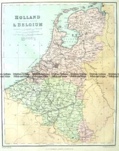 5-158  Holland and Belgium by Chambers  c.1860