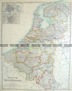 5-161 Belgium and the Netherlands by Johnston  c.1887