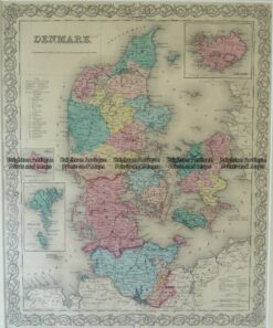 5-165 Denmark  by Colton  circa 1855