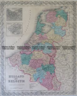 5-166 Holland and Belgium by Colton  circa 1855