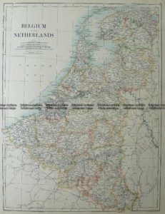 5-168  Belgium and The Netherlands by Johnston  c.1886