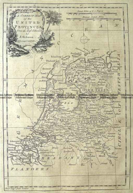 5-169  Holland or United Provinces by Gibson  c.1771