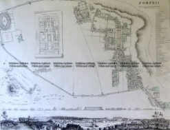 5-170 Pompeii street map by S.D.U.K c. 1844