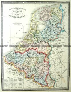 5-171  Holland and Belgium by J Wyld  c.1853