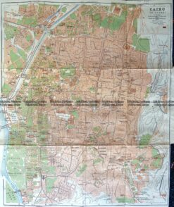 5-183  Egypt - Cairo street map by Wagner & Debes