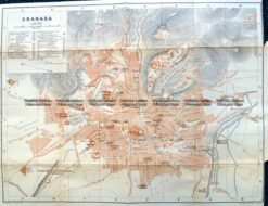 5-187  Spain - Granada street map by Wagner & Dubes c.1911