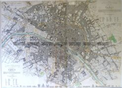 5-200  Paris Street Map by S.D.U.K. c.1844