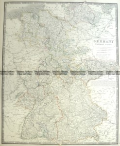 5-211  Germany - Western States by A K Johnston  c.1850