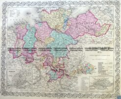 5-217  Germany - Northern by Colton  c.1855
