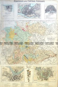 5-225  Germany - Northern & Central by Fullerton  c.1854
