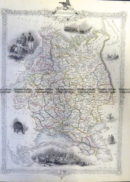 5-245  Russia in Europe by Tallis  c.1851