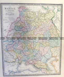 5-249  Russia in Europe including Poland by Wyld  c.1853