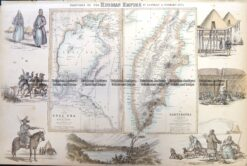 5-250 Russia in Asia - Aral Sea and Kamtchatka by Fullerton  c.1854