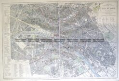 5-256  Paris street map by Letts  c.1883
