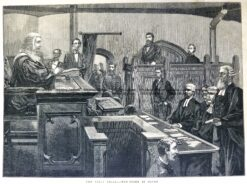 78-029  Ned Kelly trial in Melbourne  c.1880