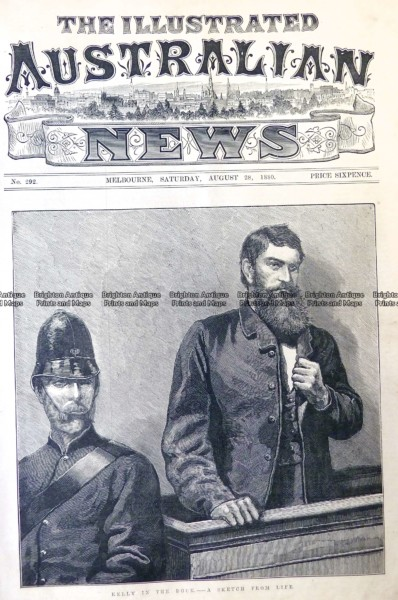 78-030  Ned Kelly in court  c.1880