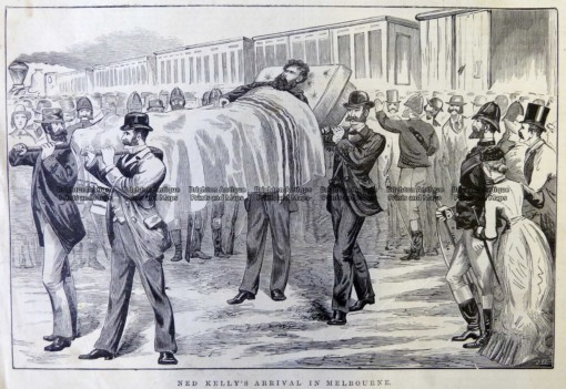 78-031 Ned Kelly arriving in Melbourne  c.1880