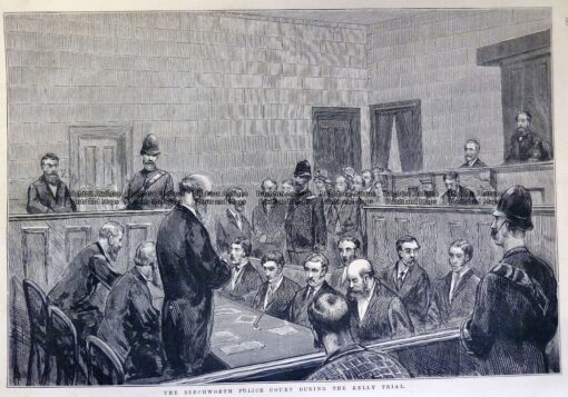 78-032  Ned Kelly in Beechworth Police Court  c.1880