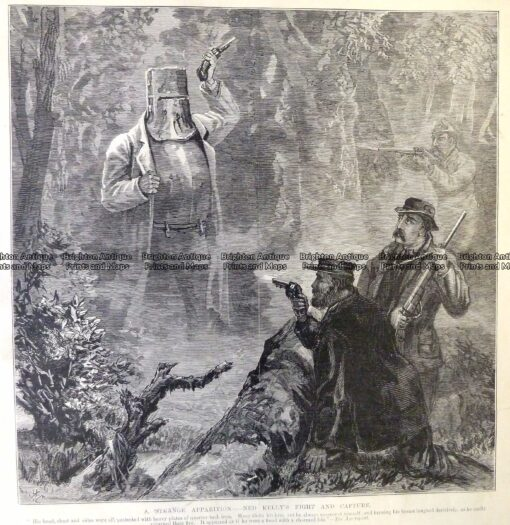 78-033  Ned Kelly fight and capture  c.1880