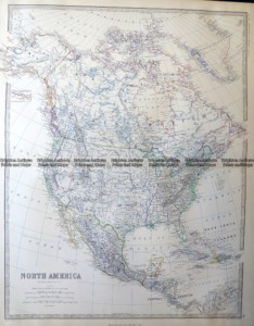 8-003  North America by Johnston  c.1864