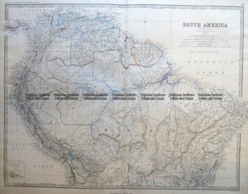 8-004  South America – northern part by Johnston c.1864