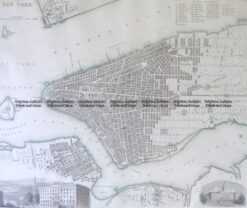 8-196 New York street map by S.D.U.K c.1844