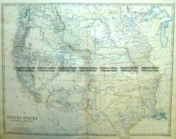 8-199  USA- Western States by Johnston  c.1864