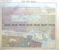 8-200  New York - Central Manhattan by Letts  c.1883