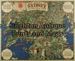 9-072 - Sydney Sydney Morning Herald - circa 1938 Offset printing 59cm X 47cm Condition A+ -   -