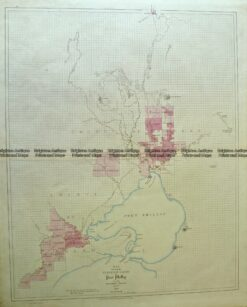 9-145  Port Phillip and Melbourne  by Arrowsmith c.1841