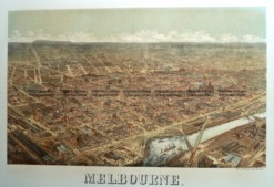 9-151  Melbourne Bird's Eye view by Cooke  c.1882