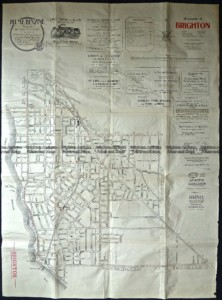 9-158  Melbourne Street Map - Brighton  c.1920