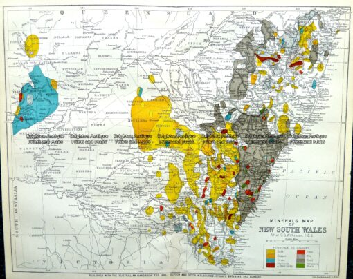 9-810  NSW Mineral Map  c.1896