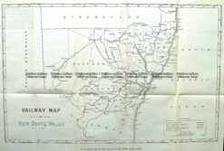 9-811  NSW Railway Map  c.1884