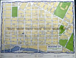 9-819  Street map of CBD Melbourne  c.1970's