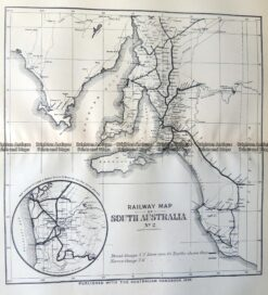 9-826  South Australia Railway Map  c.1896