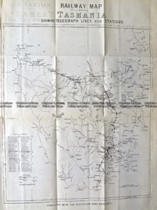 9-830  Tasmania Railway Map  c.1883