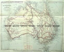 9-974  Australia - tracks of explorers  c.1880