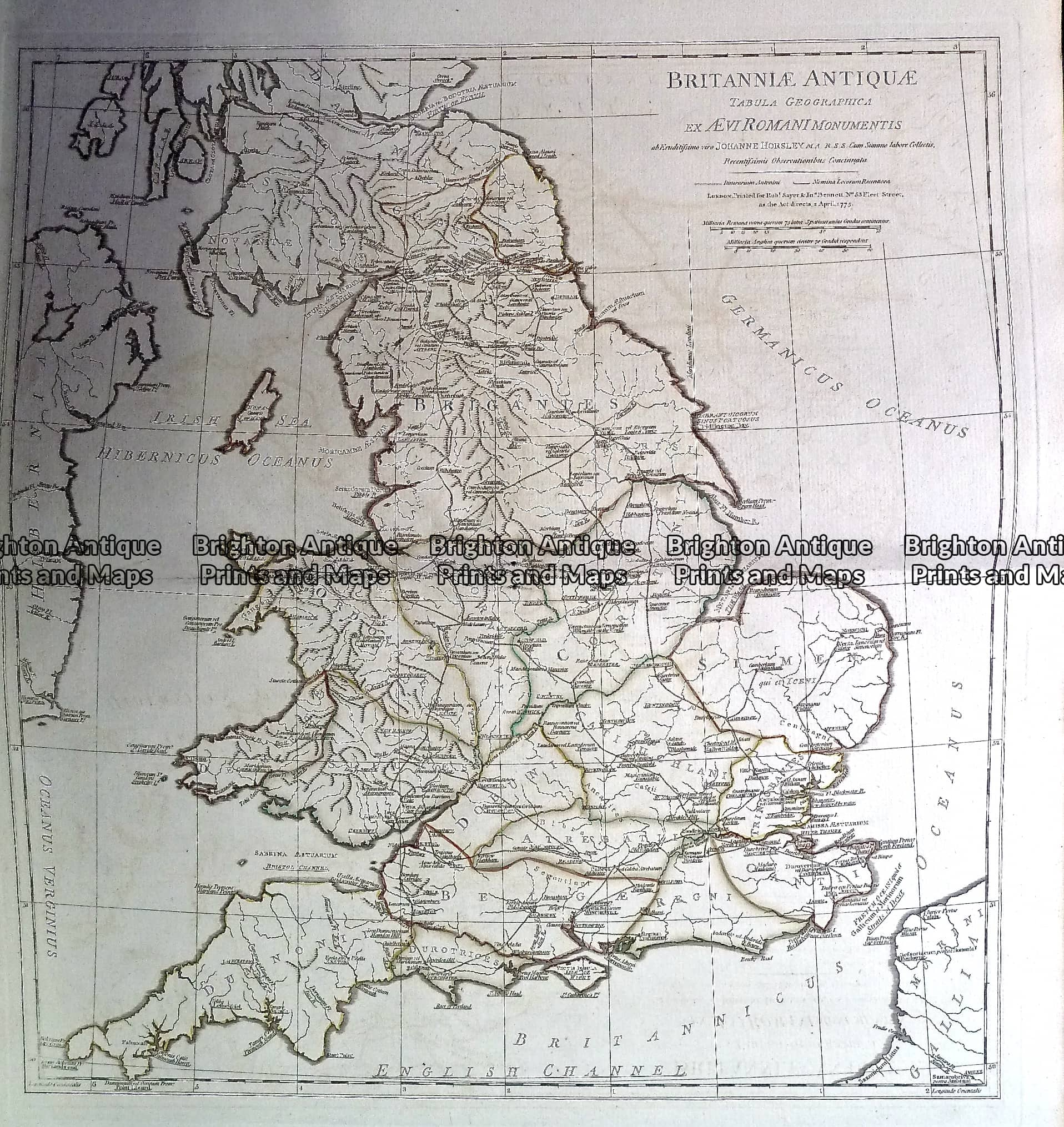 Antique Map 230 139 Britain Britanniae Antiquae By D Anville C 1785