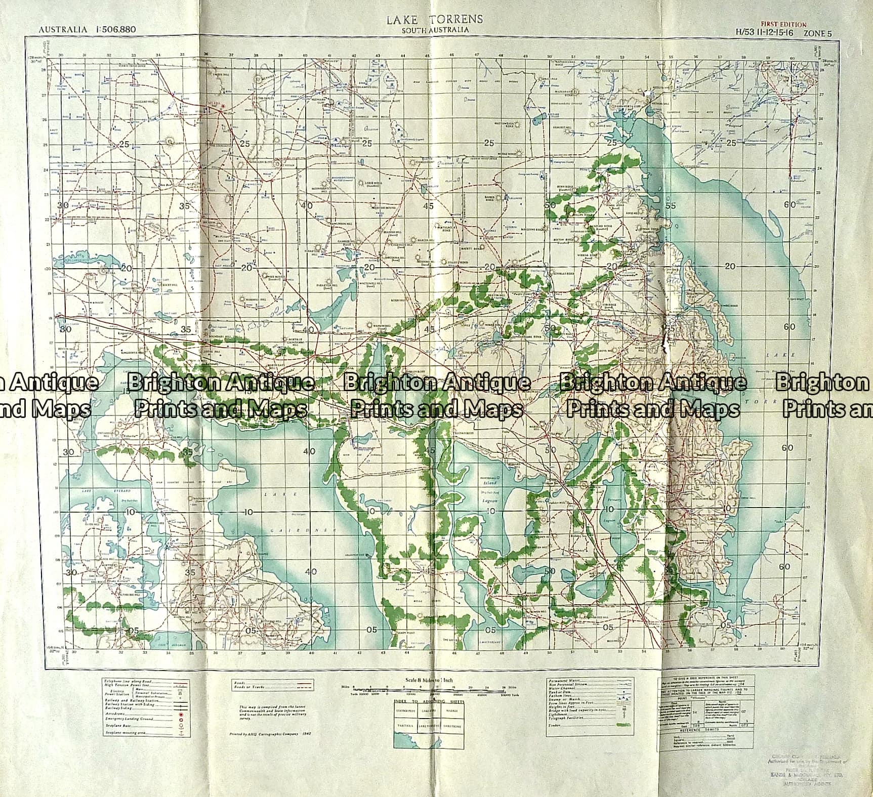 Map Of Australia To Buy.Antique Map 230 610 Lake Torrens South Australia Military Map C 1942